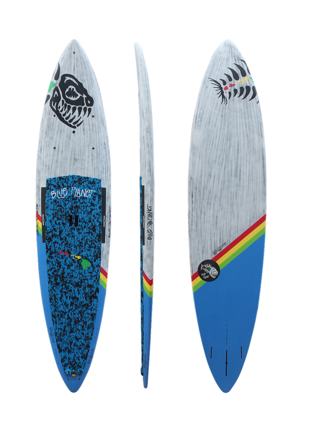 10'11x28 Ninja Big Gun wht-blue carbon