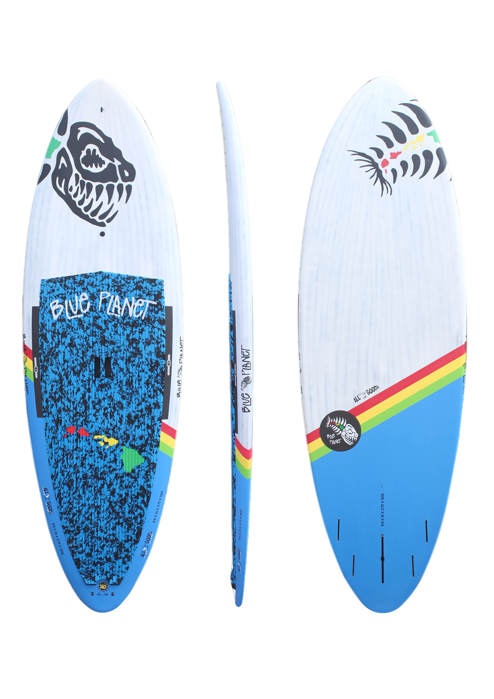 8'8x31 Allgood wht-blue carbon HW