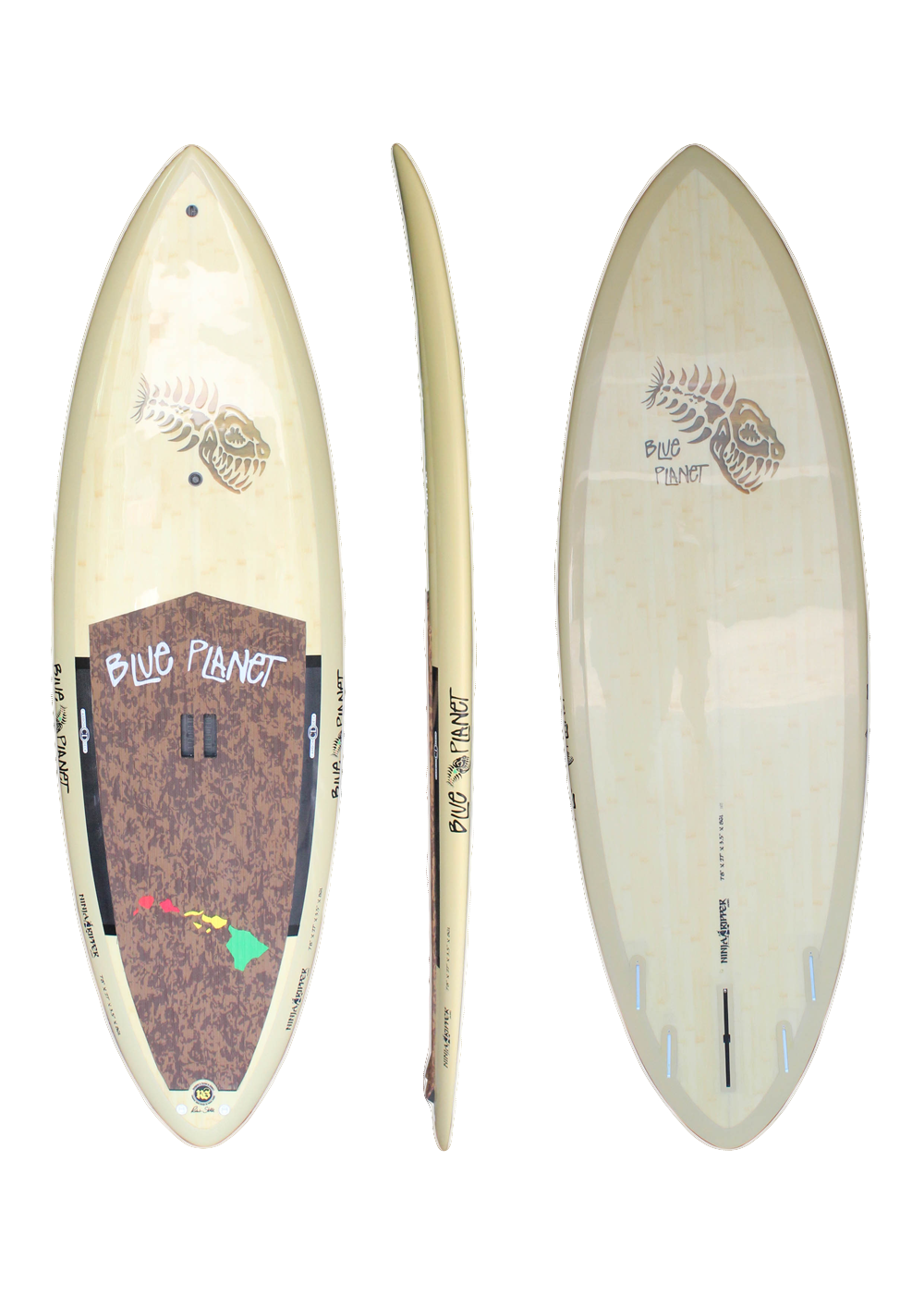 7'8_ x 27_ Ninja Ripper Natural Bamboo
