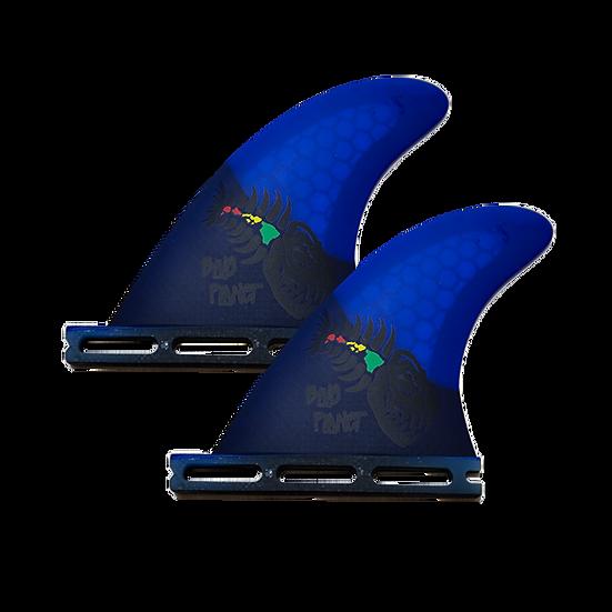 "Side Fins 4"" Blue Planet"