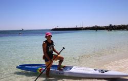 Nathan Cross on the Blue Planet Bump Racer Dugout - Rottnest Island WA
