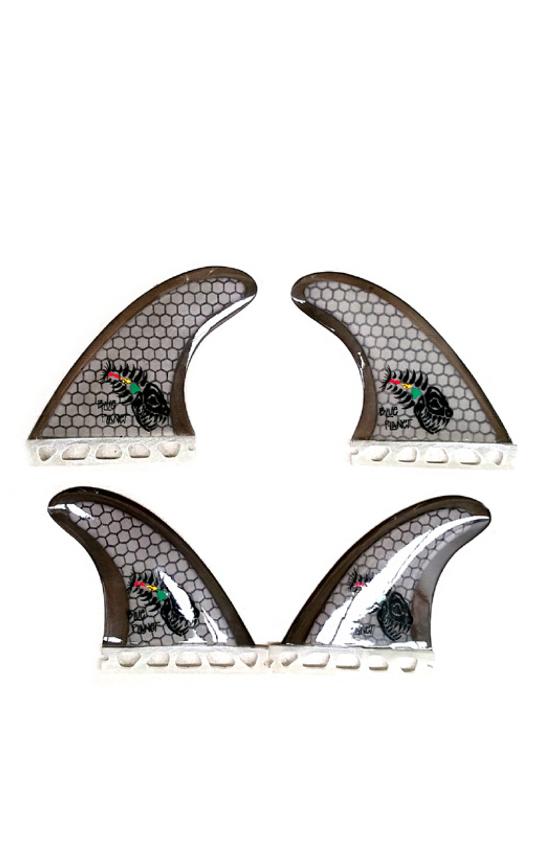 Honeycomb quad fin set