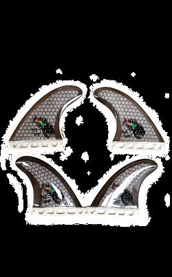 Honeycomb quad fin set