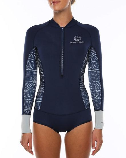 O+E Salt Hi Cut LS Wetsuit - Navy