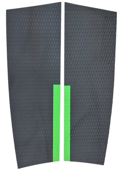 SUP Deckgrip_2 piece Grey Green Stance Area - Large
