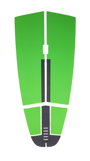 SUP Deckgrip_5 piece Green Grey Strip