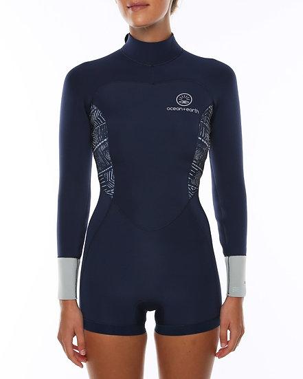 O+E Ladies Boyleg LS Wetsuit - Navy