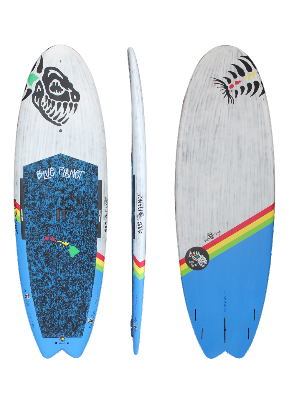 8'11x32 Fish N Chips wht-blue HW