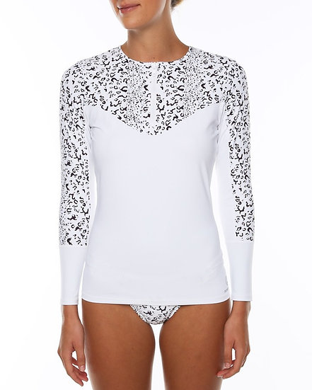 Ladies Riot Long Sleeve Zip - White18