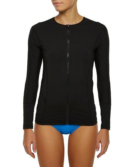 Ladies Oceana Zip Front - Black