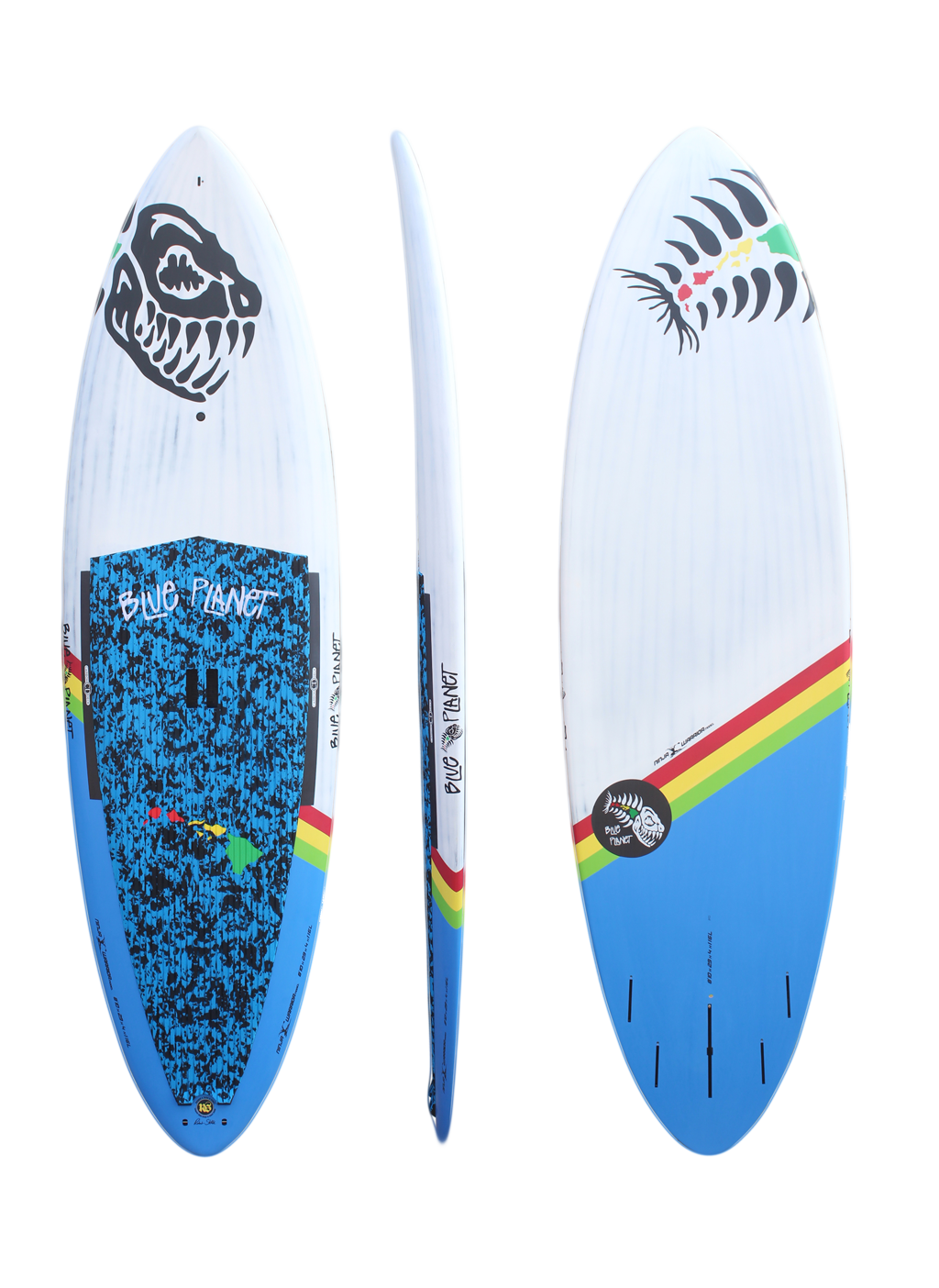 8'10x29 Ninja Warrior wht-blue carbon
