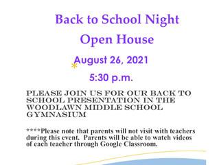 Back to School Night 2021