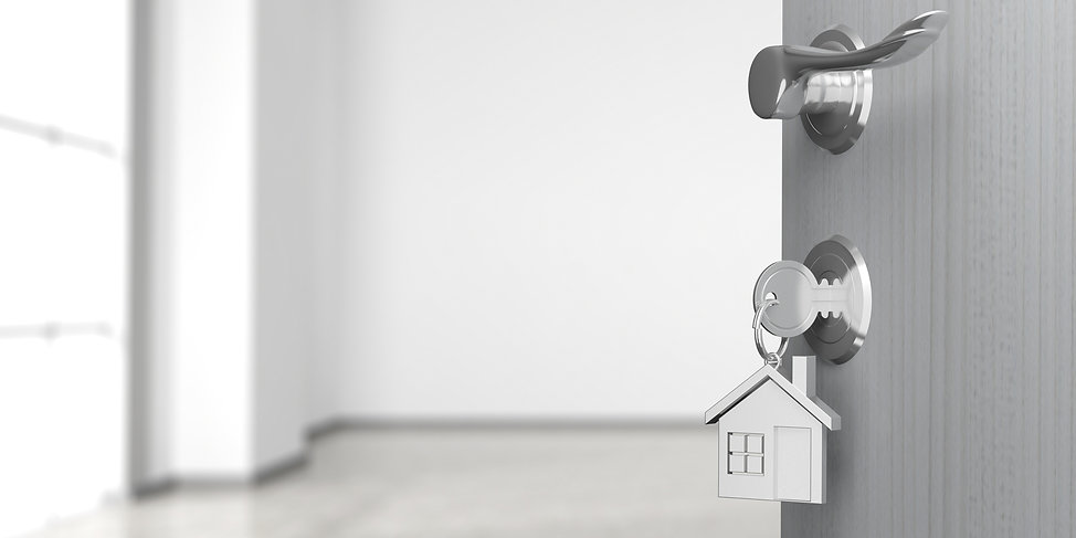 After receving mortgage advice from DJB Mortgages, this key is opening the door to a new clients new home in Chichester West Sussex.