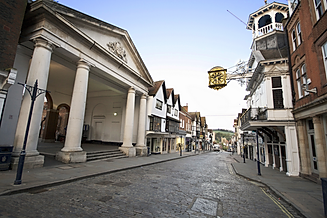 A picture of Guildford town centre looki