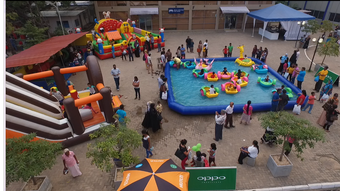 Water play area
