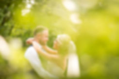 Bride and Groom Wedding Photography of couple on wedding day smiling