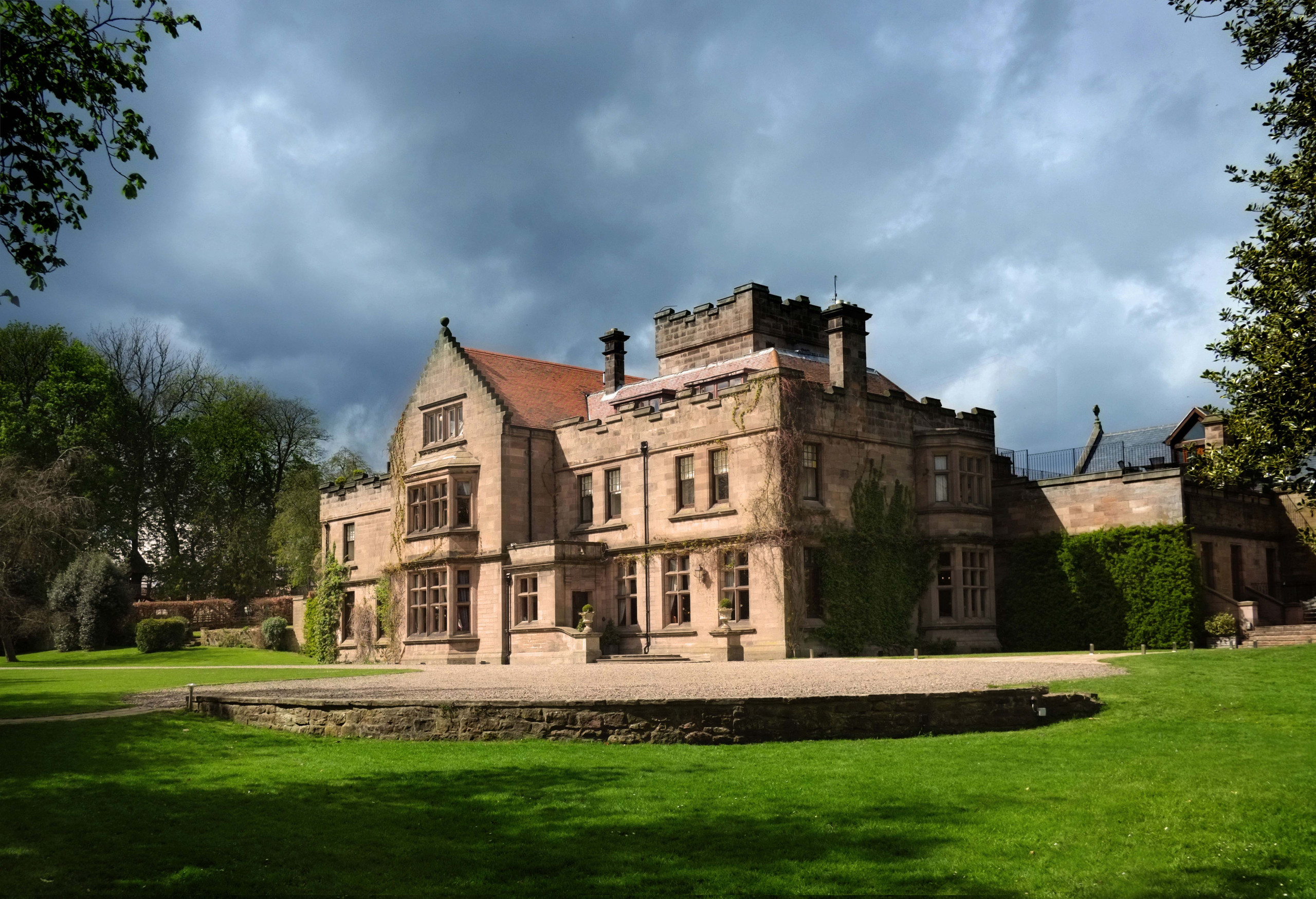 Photograph of wedding venue and country house Ellingham Hall in Chatham in Northumberland