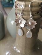 Zilveren oorbellen met half-edelstenen