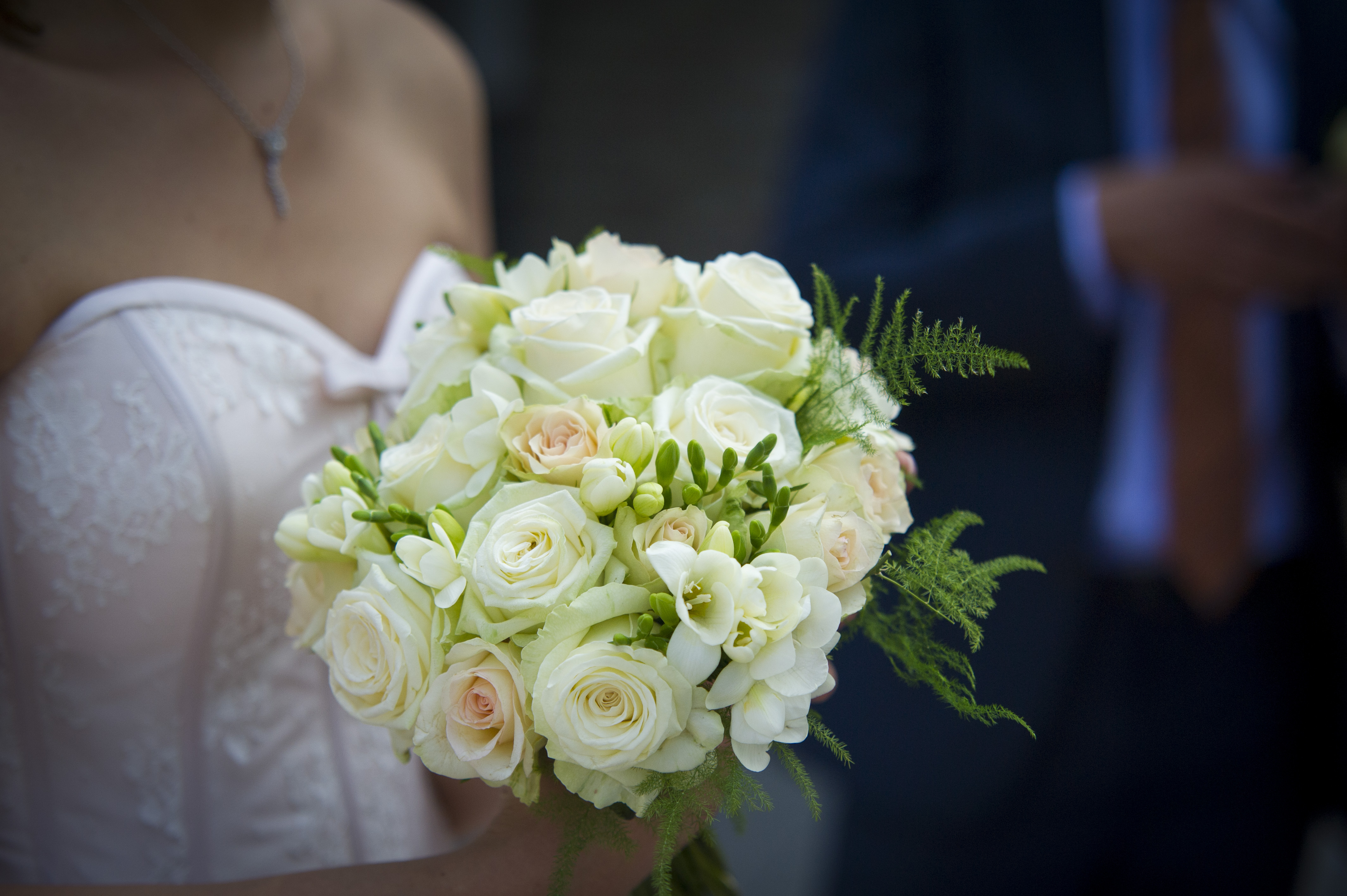 Wit trouwboeket