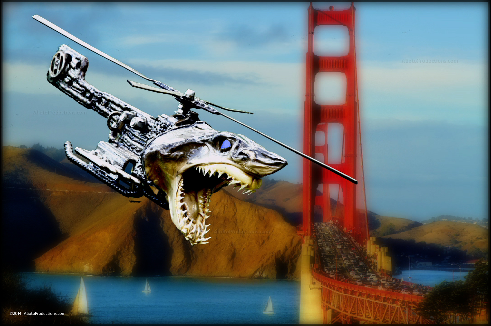 Golden Gate Bridge / Shark