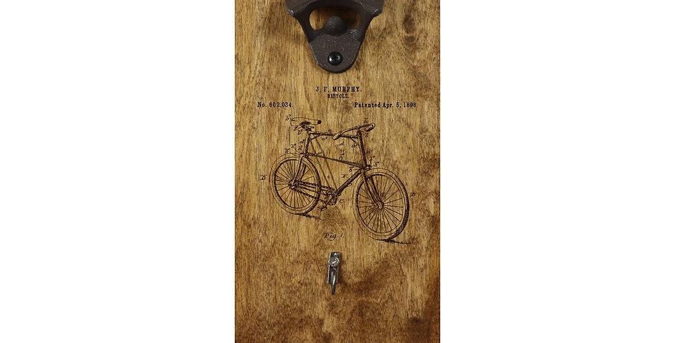Reclaimed Bottle Opener- Bike