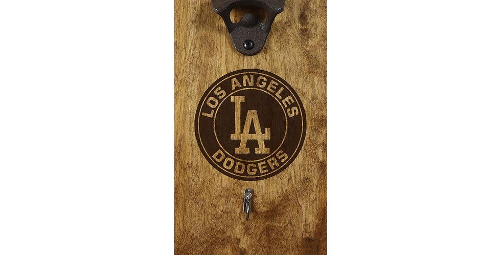Reclaimed Bottle Opener -LA Dodgers