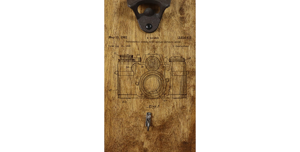 Reclaimed Bottle Opener- Camera