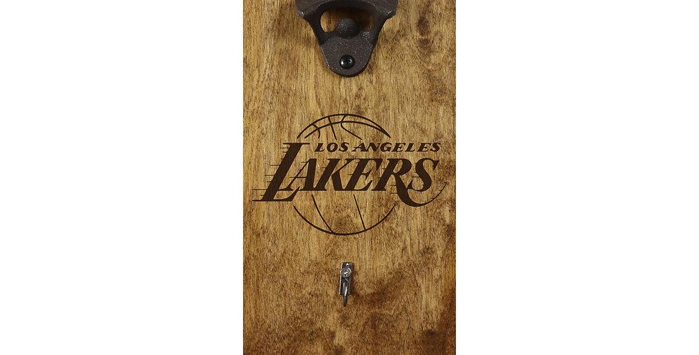 Reclaimed Bottle Opener- LA Lakers