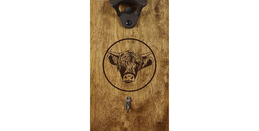 Reclaimed Bottle Opener - Highland Cow