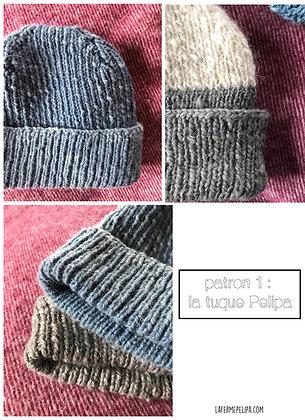 PATRON tricot - tuque Pélipa