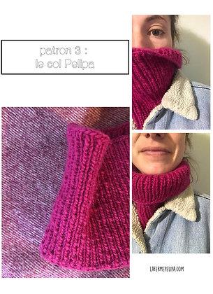 Patron tricot - Col pélipa