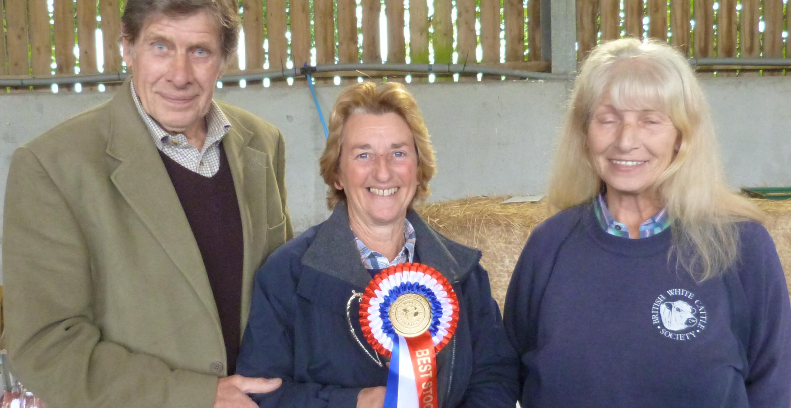 Angela Hamilton accepts the award for Best Stock Bull