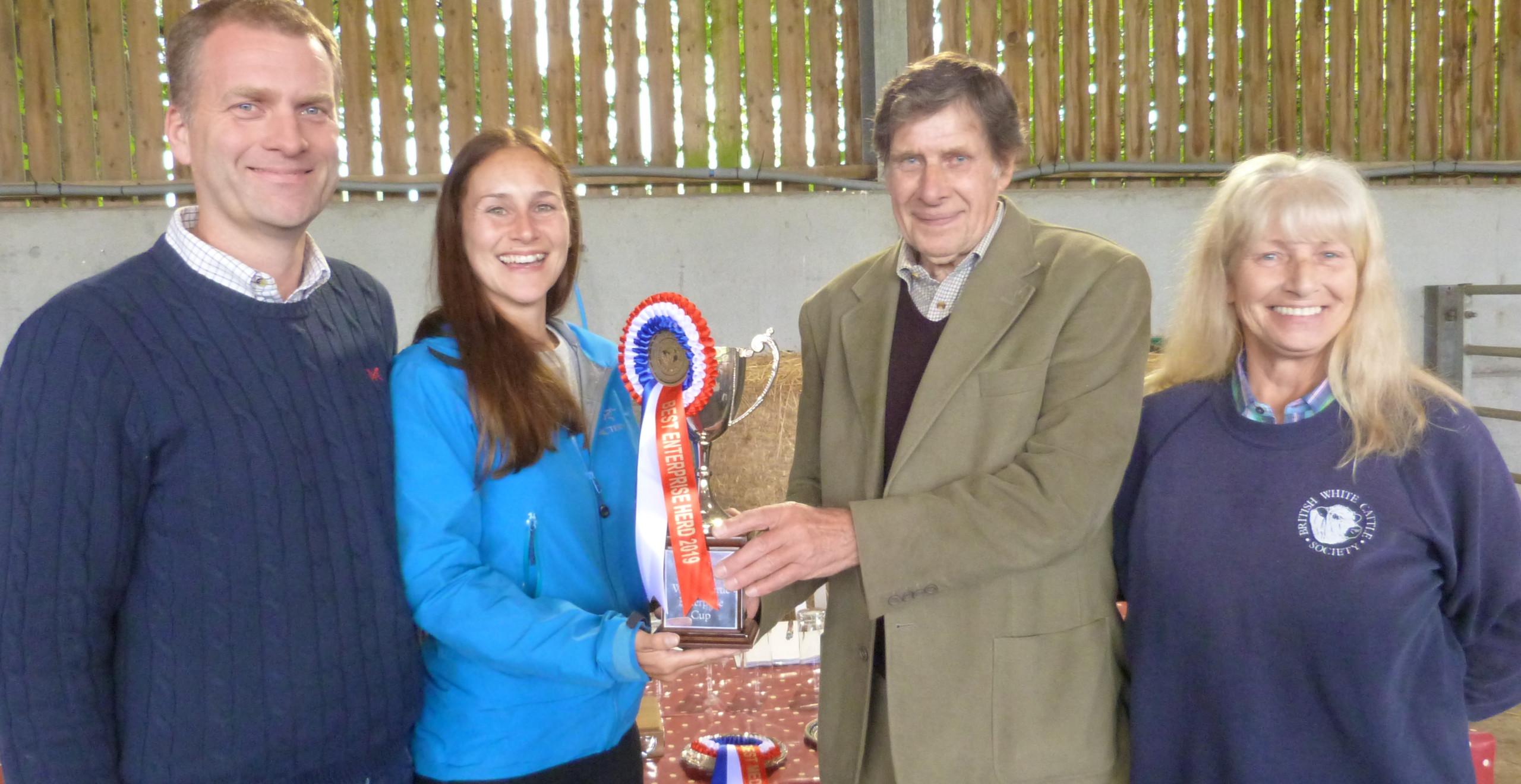 James and Katie Allen win the Enterprise Trophy