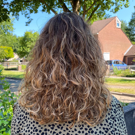 After - Balayage & krullenknippen