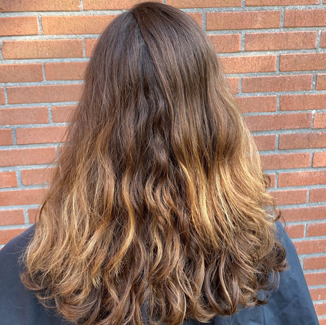 Before - Balayage & krullenknippen