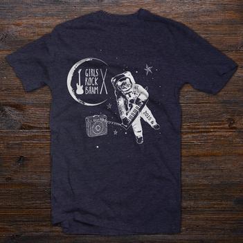 Girls Rock Bham Camp T-shirt Design