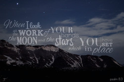 Psalm8:3  | Rhea Creative
