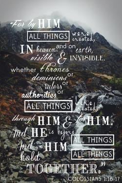 Colossians 1:16-17 | Rhea Creative