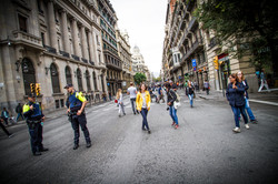 Les rues vidées, le jour du vote
