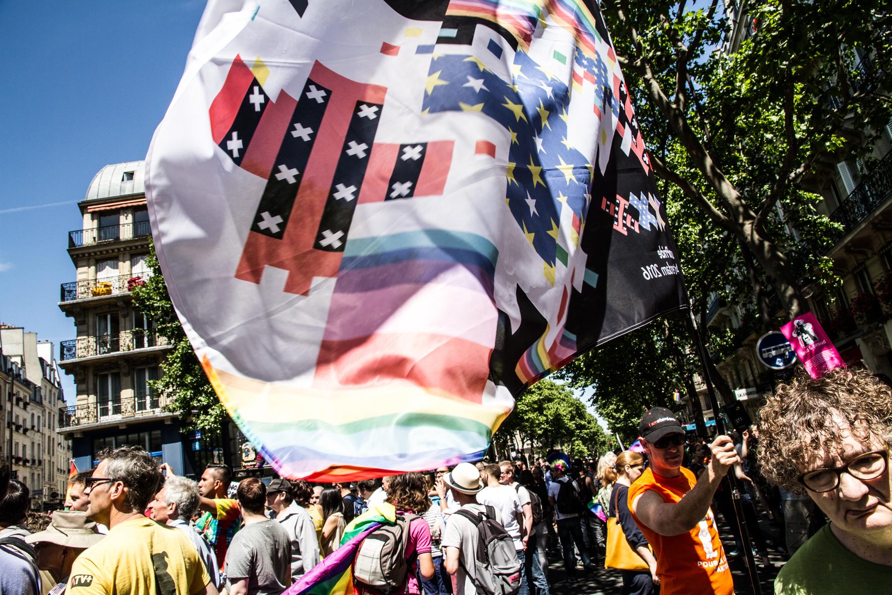 Flag across the rainbow