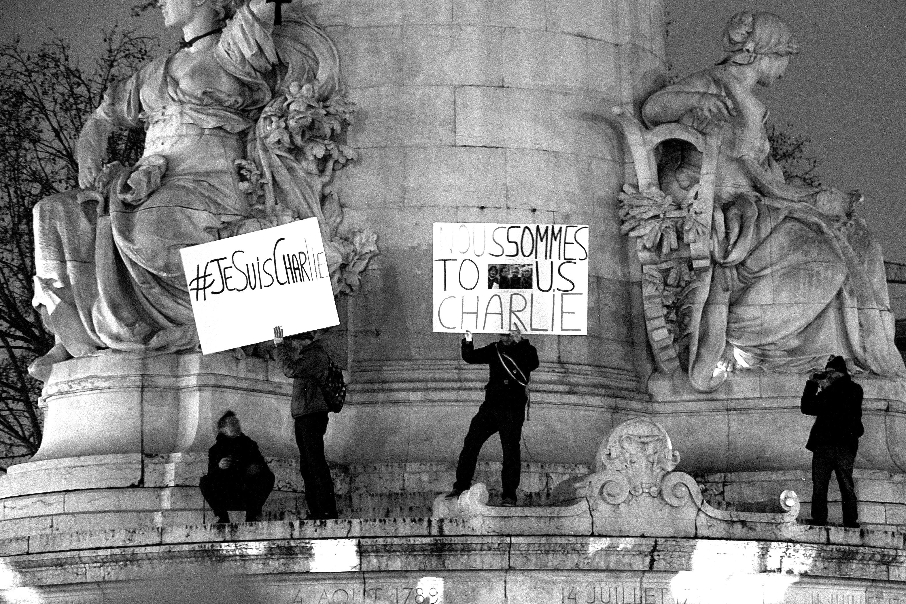 7 janvier, Place de la République