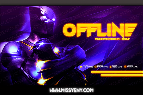 BLACK PANTHER FORNITE | OFFLINE SCREEN