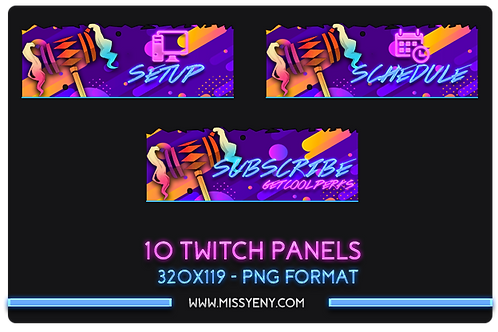 Twitch Mixer Panels | Harley Quinn x Fortnite V2.0