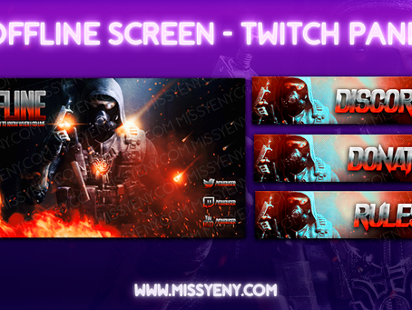 AVAILABLE | CALL OF DUTY | OFFLINE SCREEN TWITCH PANELS