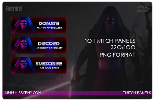 Twitch Mixer Panels | Kylo Ren x Fortnite