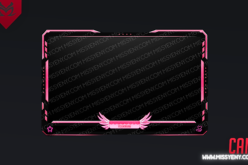 PINK MERCY | FACE CAM OVERLAY