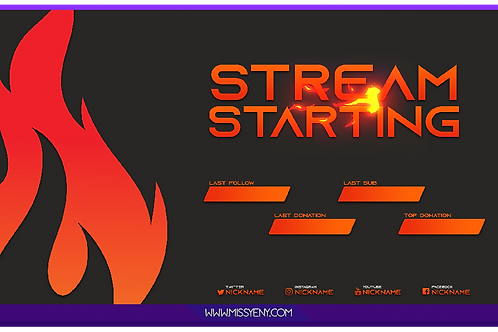 STREAM PACK | FIRE | SCREENS, PANELS AND OVERLAY