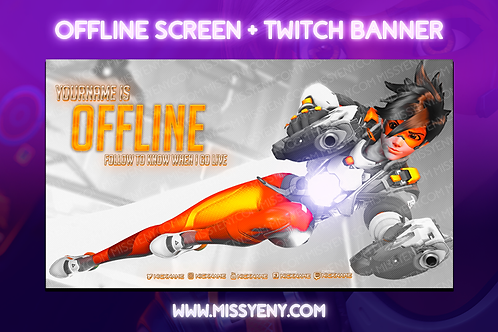 OVERWATCH 2 TRACER - OFFLINE SCREEN + TWITCH BANNER