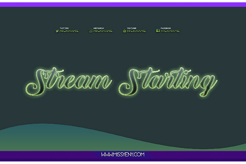 STREAM PACK | GREEN | SCREENS, PANELS AND OVERLAY