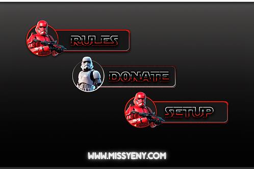 STAR WARS IMPERIAL PANELS | TWITCH PANELS